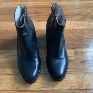 Black All Saints Booties Size 39, fits like a 38